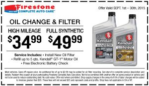 Firestone Oil Change Coupon